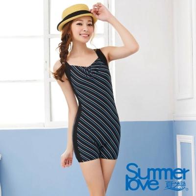 夏之戀SUMMER  顯瘦款連身四角泳衣-加大尺寸