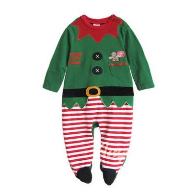 baby童衣 聖誕小精靈造型包腳連身衣 37161