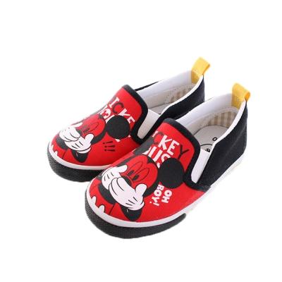 米奇 帆布鞋 (紅黑)sh9673