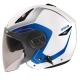 ZEUS瑞獅3/4罩式ZS-612A彩繪安全帽AD4(白藍)