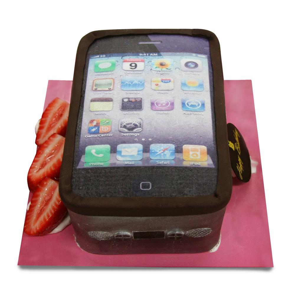 巴特里 愛瘋手機 造型蛋糕(6吋)
