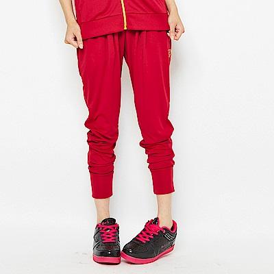 【TOP GIRL】野性奔放豹紋圖騰針織飛鼠長褲-紅色