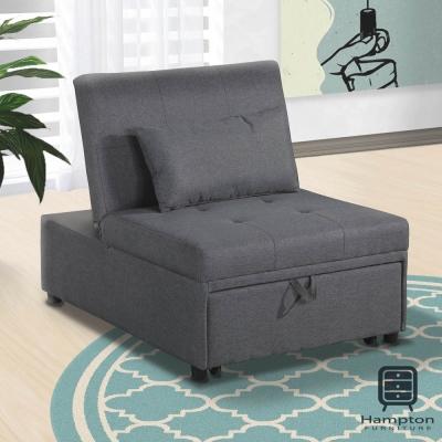 漢妮Hampton莫里斯布面單人沙發床-鐵灰-沙發床/躺椅/貴妃椅