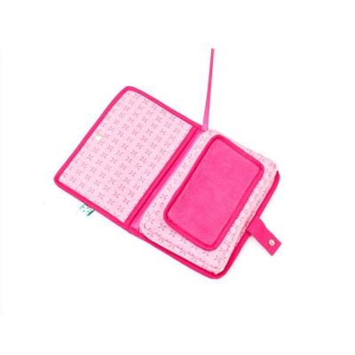 荷蘭Snoozebaby寶寶濕紙巾行動收納包-窗花粉-推車用