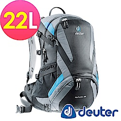 【ATUNAS 歐都納】德國DEUTER 網架直立式透氣登山後背包22L/34204黑灰
