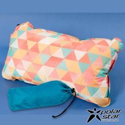 【PolarStar】花漾自動充氣枕│午睡枕│腰靠枕『三角』P17737