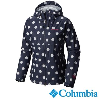 【Columbia哥倫比亞】女-防水單件式外套-深藍色 URL10300NY