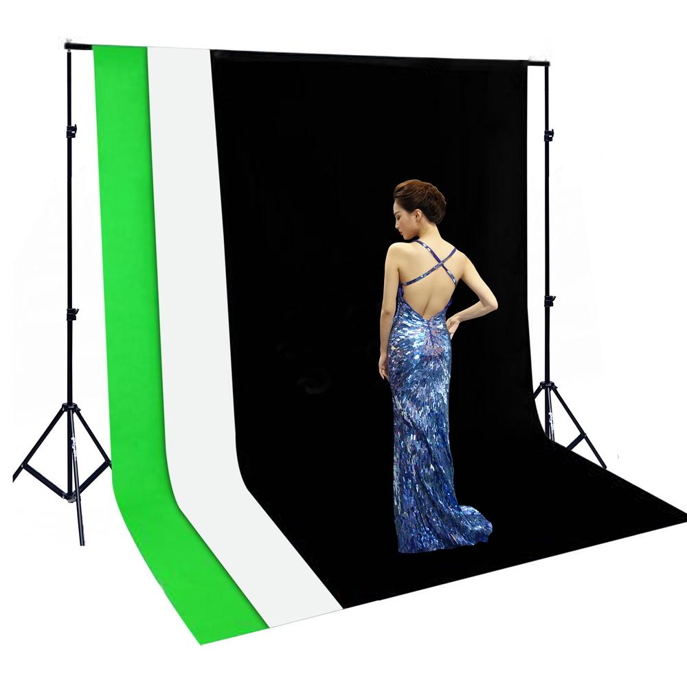 Piyet 260x300cm背景架含黑白綠三色背景布
