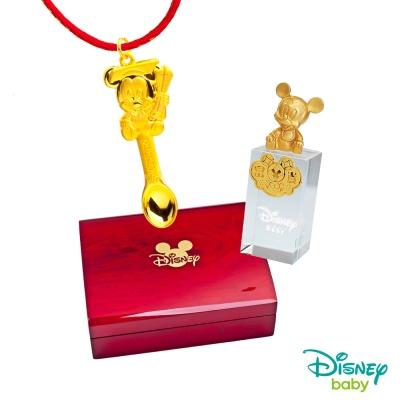 Disney迪士尼系列金飾 彌月金飾印章套組木盒-榜首米奇款-米奇造型印章 <b>0</b>.55錢