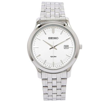 【錶飾精品】SEIKO手錶 精工表 經典時尚 白面日期 防水鋼帶男錶 全新原廠正品 SUR141P1 生日情人禮物