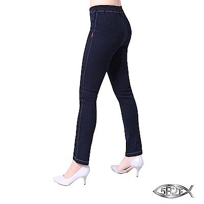 5B2F-五餅二魚-套染內磨毛牛仔褲