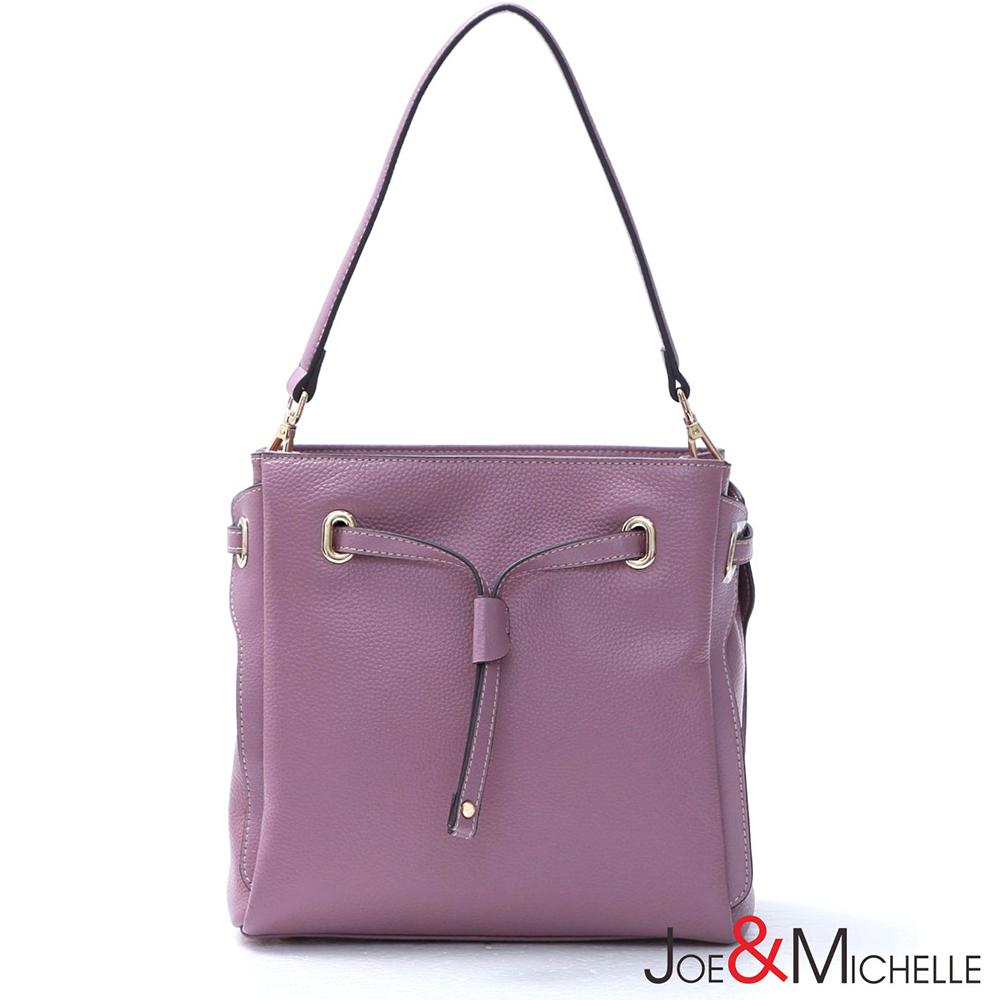 J&M 真皮克莉絲汀領結包 浪漫紫