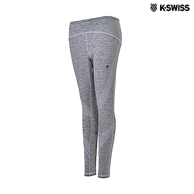 K-Swiss Emboss Tights運動內搭褲-女-灰