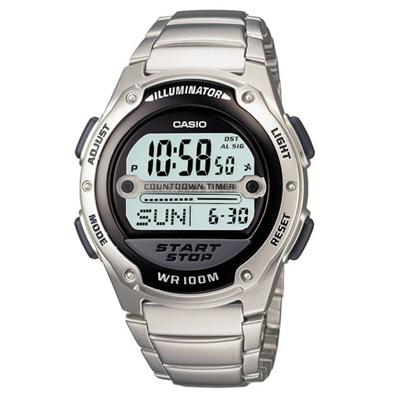 CASIO 10年電力先鋒不鏽鋼錶(W-756D-1A)-黑/40.6mm