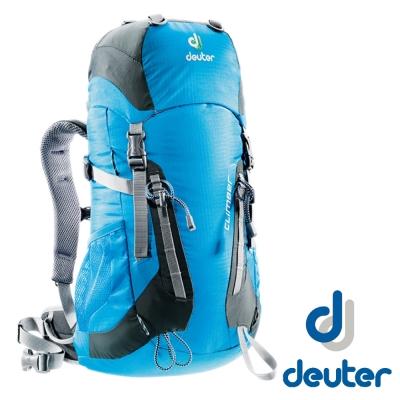 【德國 Deuter】兒童版 Climber 22L 拔熱登山背包_天藍/灰