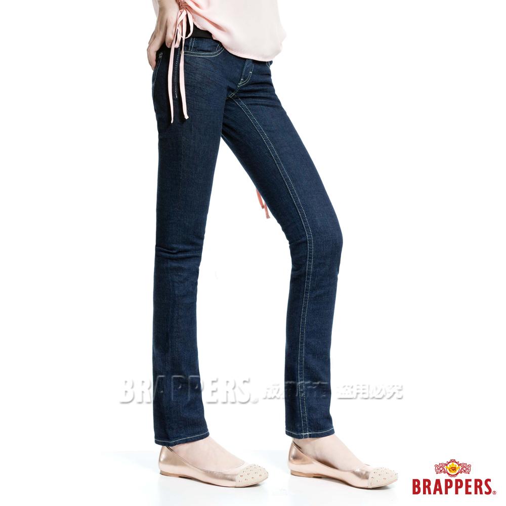 BRAPPERS 女款 Boy Friend Jeans系列-女用彈性AB褲-深藍