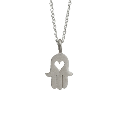 Dogeared 鏤空愛心幸運手掌 HEART HAMSA 銀色項鍊 愛與守護 附原廠盒
