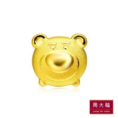 周大福 TSUM TSUM系列 熊抱哥黃金耳環(單支)
