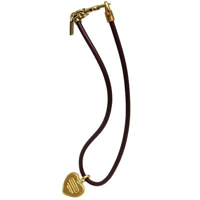 COACH壓印LOGO心型墜飾項鍊