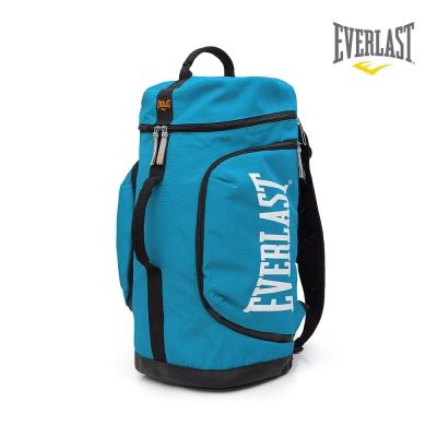 EVERLAST 拳擊運動品牌-多功能後背包-淺藍/白