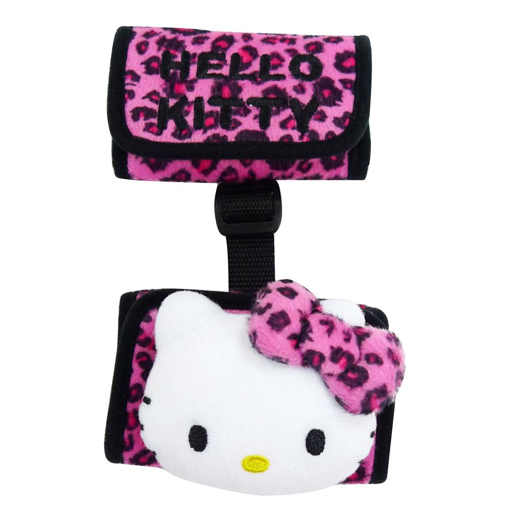 【享夢城堡】Hello Kitty 豹紋系列-方型安全帶調整器