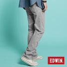 【EDWIN】重新塑造 NARROW後染中直筒休閒褲-男款(銀灰)