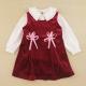 愛的世界 MYBABY 甜美絨布背心洋裝套裝/1~4歲 product thumbnail 1