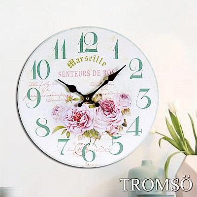 TROMSO無框畫時鐘-玫瑰香榭(圓形)