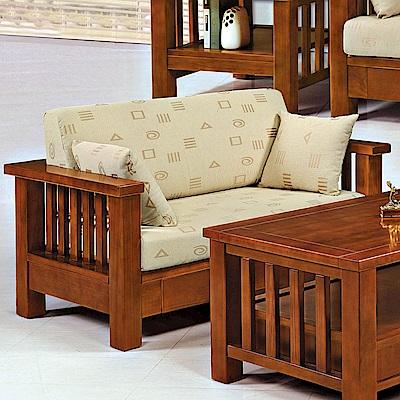 H&D 樟木色實木雙人椅 (寬145X深80.5X高64cm)
