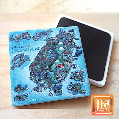 JB Design_就是愛台灣杯墊方磁鐵-592_寶島天氣晴