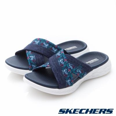 SKECHERS(女)時尚休閒系列ON THE GO 600拖鞋-15306NVY