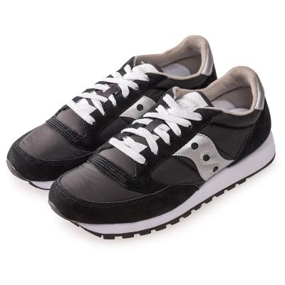 (男) 美國 SAUCONY 經典時尚休閒輕量慢跑球鞋-黑銀