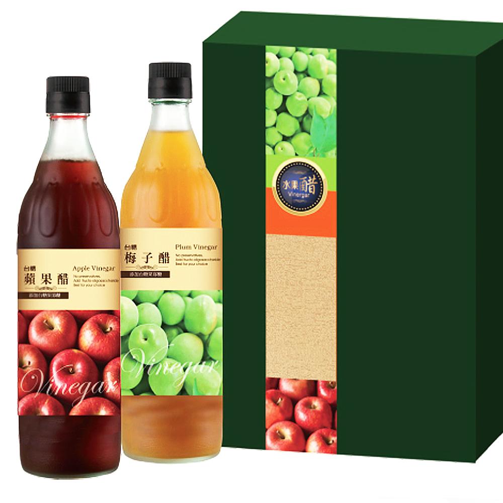 台糖 水果醋禮盒3盒 蘋果醋+梅子醋(健康流行新享受)
