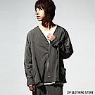 蝙蝠袖開襟外套 ZIP日本男裝
