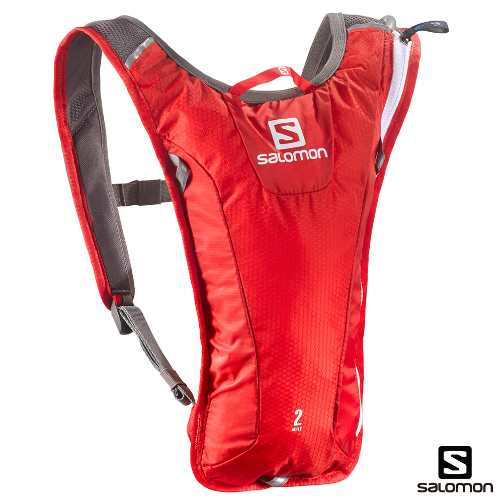 SALOMON AGILE 2 水袋背包組 亮紅/白