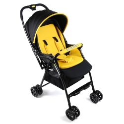 Babybabe 加款超輕量雙向秒收車-亮眼黃