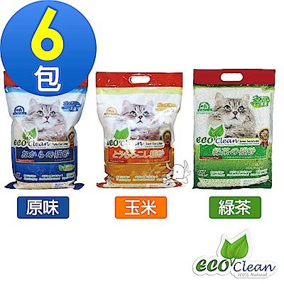 Eco Clean 艾可 天然環保 豆腐貓砂 6L X 6包組