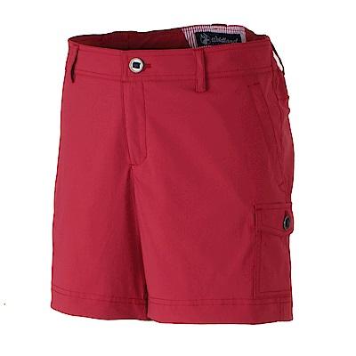 【Wildland 荒野】女彈性抗UV短褲-紅