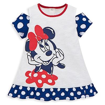 Disney 米妮系列圓點甜心露肩上衣 (2色可選)