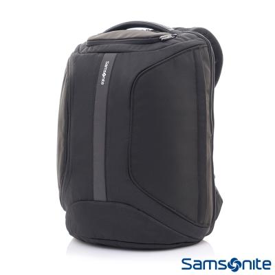 Samsonite新秀麗-Garde多功能側開式通風型肩背帶筆電後背包-15-6吋-黑
