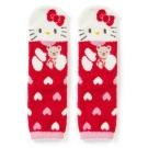 Sanrio HELLO KITTY盒裝Fluffy中筒保暖襪(愛心小熊)