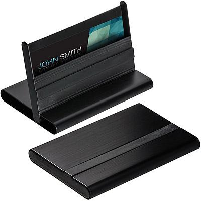 REFLECTS 雙用鋁名片盒(雙黑)