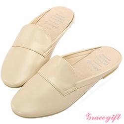 Grace gift-圓頭休閒樂福拖鞋