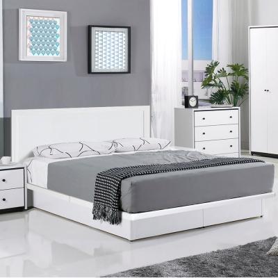 群居空間 維洛5尺掀床組 床頭片+掀床 純白色