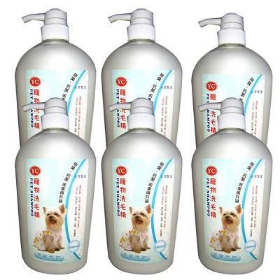 YC 寵物洗毛精1000ml 6瓶 亮麗雪白-成、幼、犬、貓適用