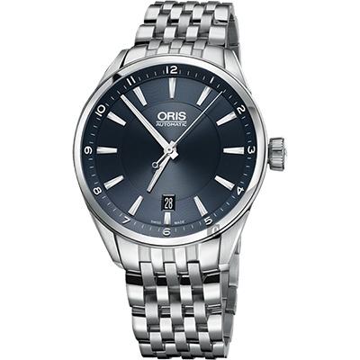 Oris Artix Blue 日期機械腕錶-藍x銀/39mm
