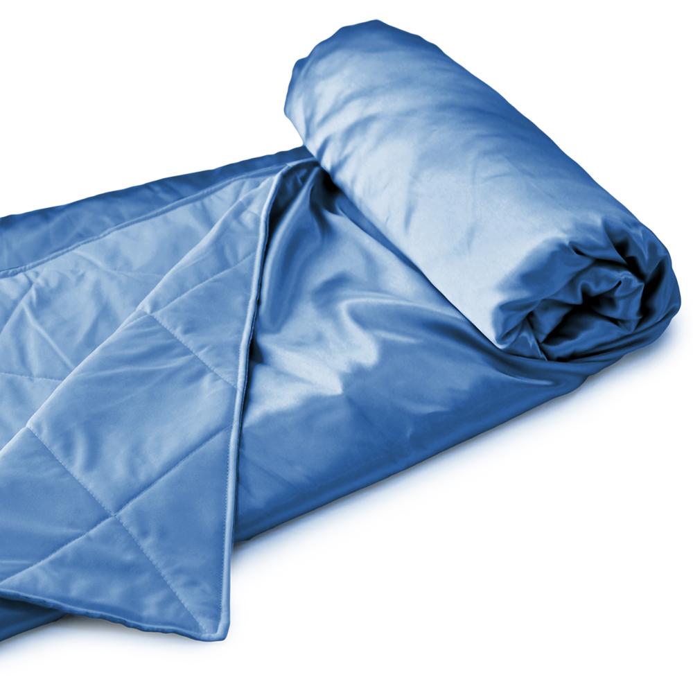 亞曼達Amanda 涼感紗機能吸溼排汗涼被-藍