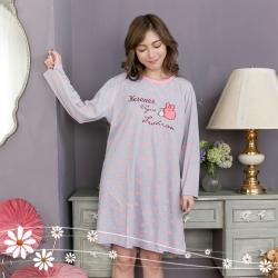 睡衣 歡樂時光長袖洋裝睡衣 Emily Sweet
