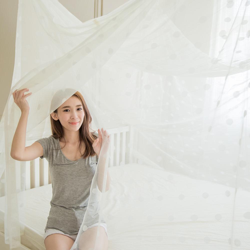 凱蕾絲帝 堅固耐用單人3尺針織蚊帳-開單門