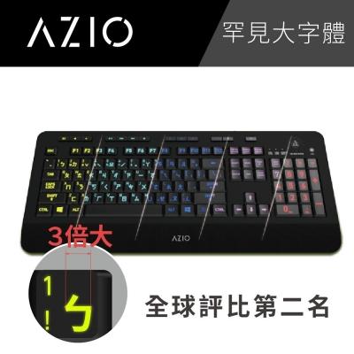 AZIO KB506 大注音背光有線鍵盤